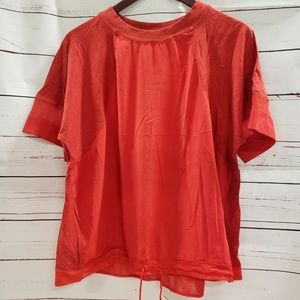 Nike xlarge red waste tie breather shirt top